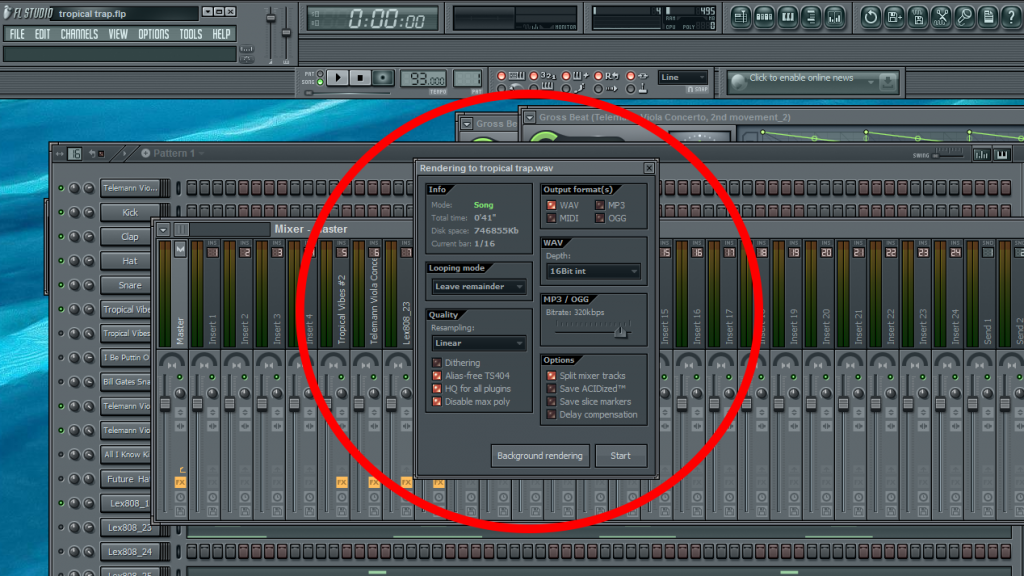 How to Export Individual Tracks in FL Studio For Mixing